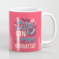 paper towns Mugs featuring Paper Towns: It Beats The Alternative by Risa Rodil