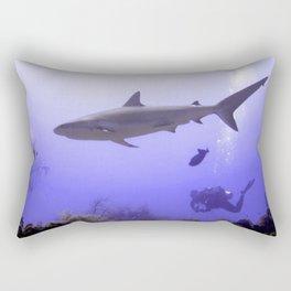 Swimming Shark Rectangular Pillow