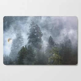 Smoky Redwood Forest Foggy Woods - Nature Photography Cutting Board