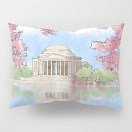 Cherry Blossom - Jefferson Memorial Pillow Sham
