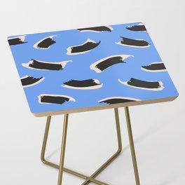 Animal Stripes on Blue Side Table