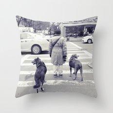 don't walkies... Throw Pillow