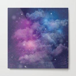 Pink and Blue Nebula Metal Print