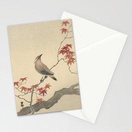 Japanese Maple Songbird  Stationery Cards