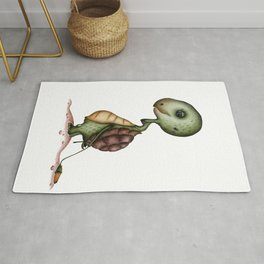 Tortoise with flower Rug