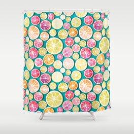 Citrus bath Shower Curtain