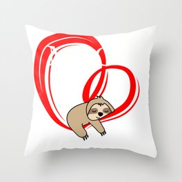 German Valentine Gift Ich mag es zeit mit dir zu verbringen design Throw Pillow
