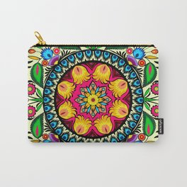 folk flowers collage Carry-All Pouch