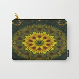 Large Yellow Wildflower Kaleidoscope Art 7 Carry-All Pouch