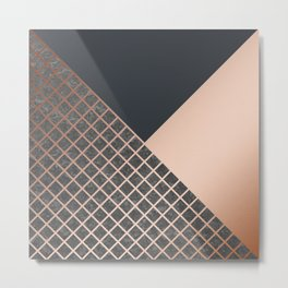 Copper & Concrete 06 Metal Print