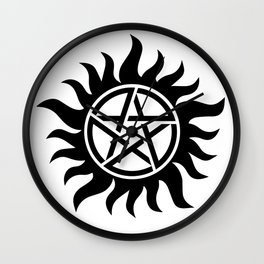 Anti-possession sigil Wall Clock