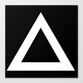 (TRIANGLE) (BLACK & WHITE) Canvas Print