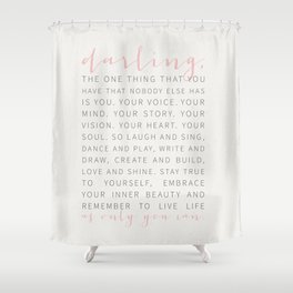 Darling... Shower Curtain