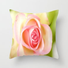 Lovely delicate pink rose Throw Pillow