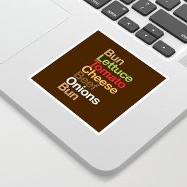 Burgervetica Sticker