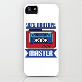 """Awesome design with cool text made just right for you! """"90's Mixtape Master"""" makes a nice gift! iPhone Case"""