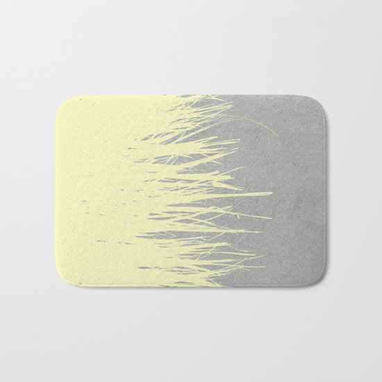 Concrete Fringe Yellow Bath Mat