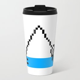 Pixel Art Yoga Downward Dog Pose Travel Mug