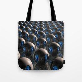 Alien Invasion At Dawn Tote Bag