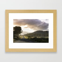 Where the road leads to the wilderness Framed Art Print