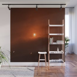 Solar Eclipse over Somerset, 2015 Wall Mural