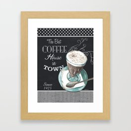 Retro Chalkboard Coffee 2 Framed Art Print