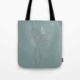 Floral Whimsy Smokey Teal Tote Bag