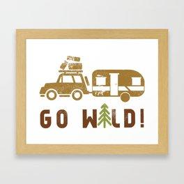 Camping Go Wild Framed Art Print