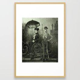 Dark Victorian Portrait: Lady Charlotte Nightshade and her Attendant Framed Art Print