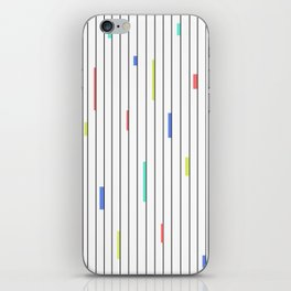 Color & Stripes iPhone Skin