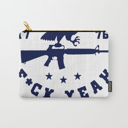 AMERICA FuuCK YEAH EAGLE T-SHIRT Carry-All Pouch