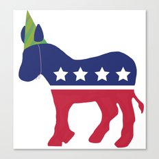 Wheres the Party at Democrat Canvas Print