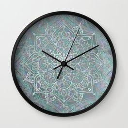 Iridescent Mandala Wall Clock