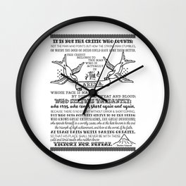 in the arena Wall Clock