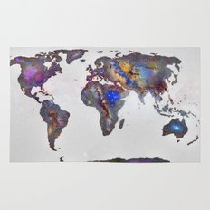 Stars world map Rug