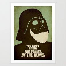 Beard Vader Art Print