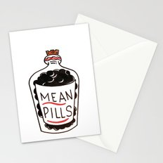 Mean Pills  Stationery Cards