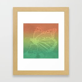 Gradient Monarch Framed Art Print