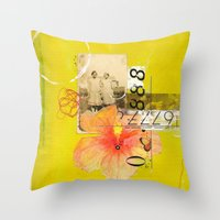 agnes Throw Pillows featuring Agnes & Annie by Shelley Kommers