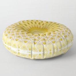 Honey and milk mandala Floor Pillow