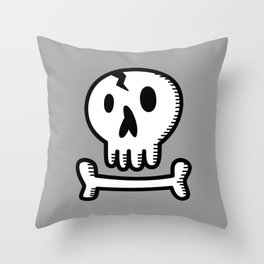 Skull 'N Bones Throw Pillow