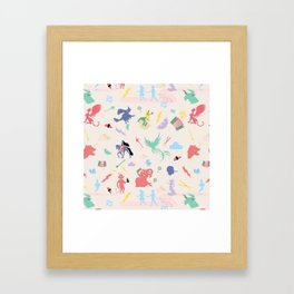 Mythological pattern Framed Art Print
