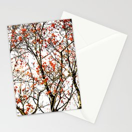 Red rowan fruits or ash berries Stationery Cards