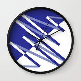 Fracture (Blue) Wall Clock