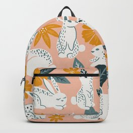 Bunnies & Blooms – Teal & Blush Backpack