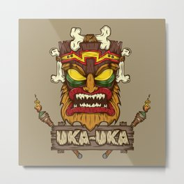 Uka-Uka (Crash Bandicoot) Metal Print