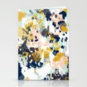 Sloane - Abstract painting in modern fresh colors navy, mint, blush, cream, white, and gold by charlottewinter