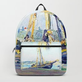 Boat on a beach Backpack