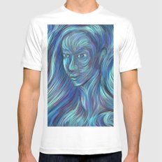 frozen fire Mens Fitted Tee MEDIUM White