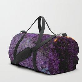 Not home planet alien landscape indigo purple orange surreallist Duffle Bag